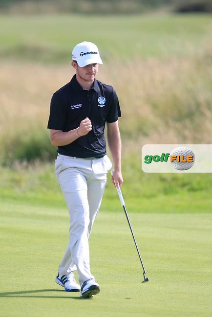 Connor Syme (SCO) during the Home Internationals day 2 foursomes matches supported by Fairstone Financial Management Ltd. at Royal Portrush Golf Club, Portrush, Co.Antrim, Ireland.  13/08/2015.<br /> Picture: Golffile | Fran Caffrey<br /> <br /> <br /> All photo usage must carry mandatory copyright credit (&copy; Golffile | Fran Caffrey)
