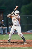 Kyle Hamner (20) of the Asheboro Copperheads at bat against the Gastonia Grizzlies at McCrary Park on June 1, 2015 in Asheboro, North Carolina.  The Copperheads defeated the Grizzlies 11-6. (Brian Westerholt/Four Seam Images)
