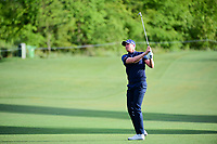 Daniel Berger (USA) watches his approach shot on 10 during round 1 of the Shell Houston Open, Golf Club of Houston, Houston, Texas, USA. 3/30/2017.<br /> Picture: Golffile | Ken Murray<br /> <br /> <br /> All photo usage must carry mandatory copyright credit (&copy; Golffile | Ken Murray)