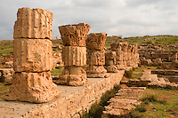 Apollonia, Shahaat, Libya -- Roman Baths, capitols date from 138 A.D.