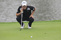 Emiliano Grillo (ARG) on the 17th green during Saturay's Round 3 of the 2014 BMW Masters held at Lake Malaren, Shanghai, China. 1st November 2014.<br /> Picture: Eoin Clarke www.golffile.ie