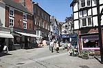 Pedestrianised street Ashbourne Derbyshire England