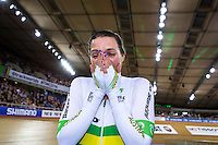 Picture by Alex Whitehead/SWpix.com - 02/03/2016 - Cycling - 2016 UCI Track Cycling World Championships, Day 1 - Lee Valley VeloPark, London, England - Australia's Rebecca Wiasak wins Gold in the Women's Individual Pursuit final.