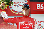 Jasper Stuyven (BEL) Trek-Segafredo takes over the race leaders Red Jersey at the end of Stage 3 of the Deutschland Tour 2019, running 189km from Gottingen to Eisenach, Germany. 31st August 2019.<br /> Picture: Mario Stiehl | Cyclefile<br /> All photos usage must carry mandatory copyright credit (© Cyclefile | Mario Stiehl)