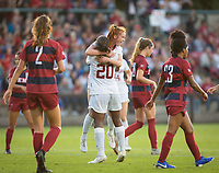STANFORD, CA - August 30, 2019: Catarina Macario, Beattie Goad at Maloney Field at Laird Q. Cagan Stadium. The Cardinal defeated the University of Pennsylvania Quakers 5-1.