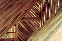 Wood framing construction detail, trusses #5436.