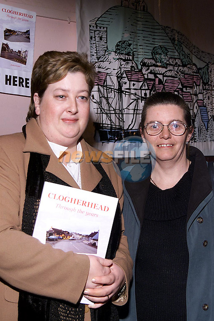 Mary Dunne, chair Clogherhead Development Group and Mary Nabb, secetary Clogherhead Development Group at the launch of 'Clogherhead, through the years' book in the Parochial Centre Clogherhead,.Picture: Paul Mohan/Newsfile