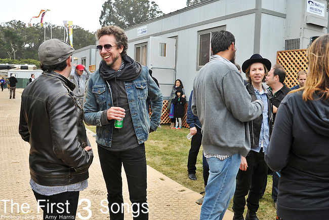 James King and Joseph Karnes of Fitz and the Tantrums backstage at Outside Lands Festival at Golden Gate Park in San Francisco, California.