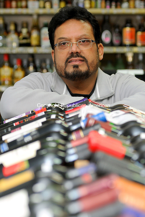 WATERBURY, CT, 03 FEBRUARY 2011-020311JS02--Yogesh Bhagat, owner of Sullivan's Discount Liquors, is one of the owners opposed to the state's proposal to allow Sunday liquor sales. <br /> Jim Shannon Republican-American