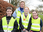 Liam and Kate Markey and Toni and Sarah Blake who took part in the 5k walk/run from An Grianan in aid of St Mary's special school Drumcar. Photo:Colin Bell/pressphotos.ie