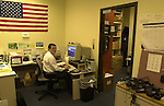 Joe Farriello, of Newsday photo department staff at Newsday's main office in Melville on Tuesday December 10, 2002. (Newsday photo by Jim Peppler).