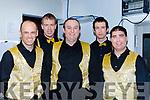 Jerimiah Murphy, Edmond McSweeney, Dan O'Riordan, Rory O'Connor and Adrian Shanahan Killarney Macra at the Munster Macra variety finals in Killarney on Saturday
