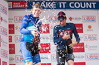 Picture by Alex Whitehead/SWpix.com - 14/05/2017 - Cycling - 2017 HSBC UK | Spring Cup Road Series - Lincoln Grand Prix - Bike Channel Canyon's Rory Townsend and JLT Condor's Ian Bibby.