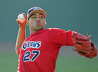 July 29, 2009: RHP Jesus Sanchez of the Lakewood BlueClaws, Class A affiliate of the Philadelphia Phillies, in a game at Fluor Field at the West End in Greenville, S.C. Photo by: Tom Priddy/Four Seam Images
