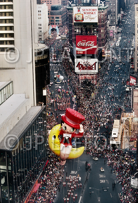 New York, U.S.A, 26th, November, 1987. Betty Boo seen at the famous Macy's Thanksgiving Parade.