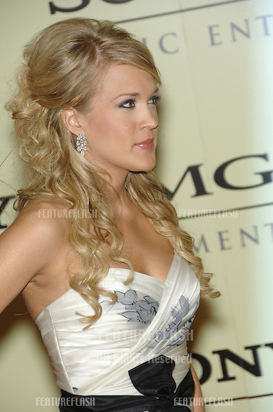 CARRIE UNDERWOOD at the Sony BMG post-Grammy Party at the Beverly Hills Hotel..February 12, 2007  Beverly Hills, CA.Picture: Paul Smith / Featureflash