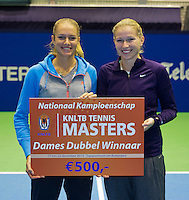 21-12-13,Netherlands, Rotterdam,  Topsportcentrum, Tennis Masters, Winners lady's final doubles: Indy de Vroome and Michaella Krajicek(R)(NED).<br /> Photo: Henk Koster