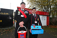 Members of the Royal British Legion collecting outside the ground during Stevenage vs Notts County, Sky Bet EFL League 2 Football at the Lamex Stadium on 11th November 2017