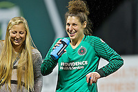 Portland, OR - Saturday July 30, 2016: Michelle Betos after a regular season National Women's Soccer League (NWSL) match between the Portland Thorns FC and Seattle Reign FC at Providence Park.