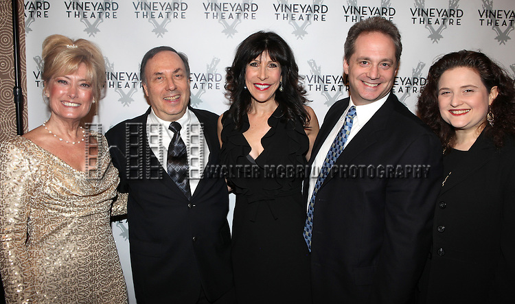 Guests attending the Vineyard Theatre's 30th Anniversary Gala Celebration Cocktail Reception at the Edison Ballroom in New York City on 3/18/2013