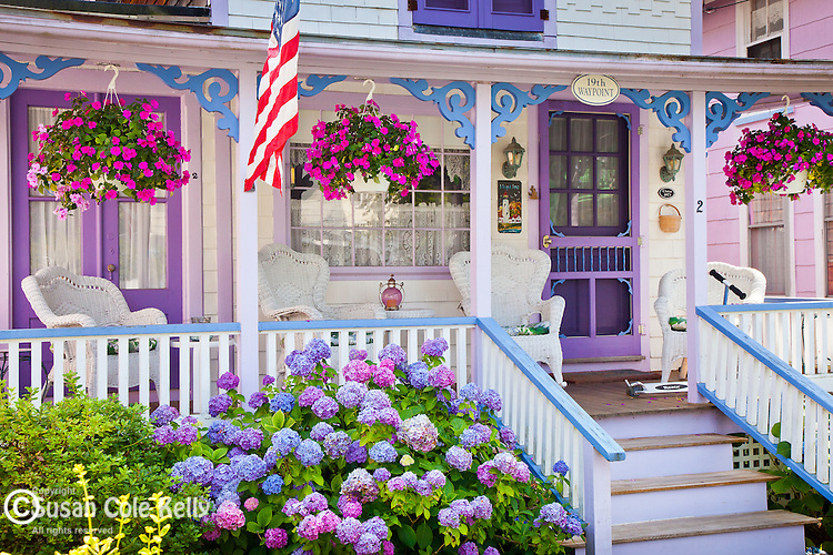 Victorian cottages on Marthas Vineyard, Cape Cod, MA