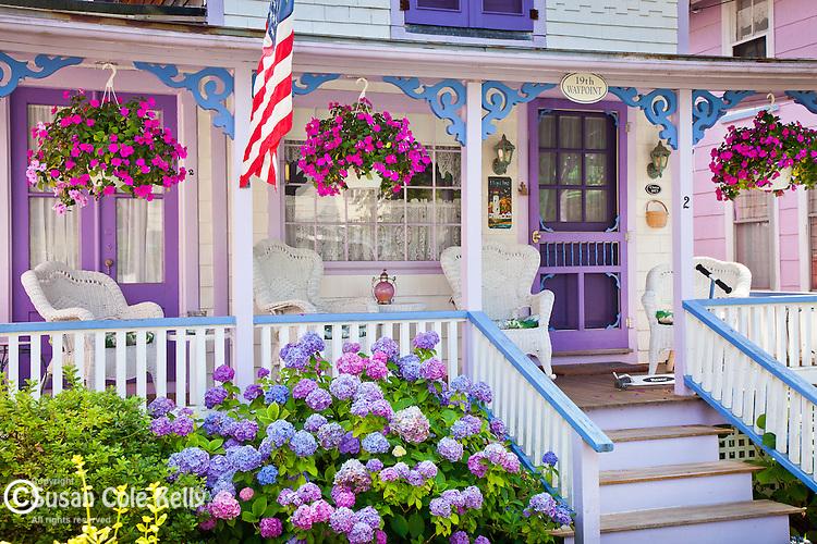 Victorian cottages on Marthas Vineyard, Cape Cod, MA