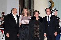François Hollande et Valérie Trierweiler, Dîner d'Etat avec son Excellence M. Giorgio Napolitano