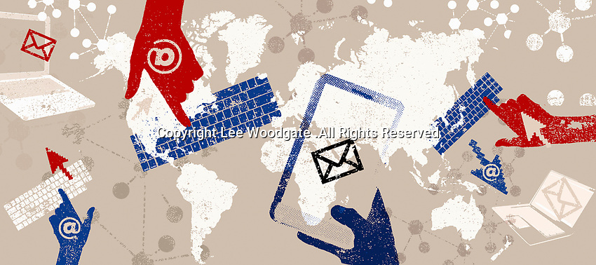 Email and global communications montage