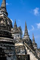 Wat Phra Si Sanphet pinnacles, Ayutthaya, Thailand