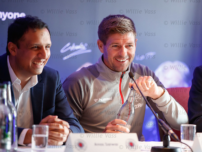 22.07.2019 Rangers launch diversity and inclusion campaign 'Everyone, Anyone'  at Ibrox today. Anas Sarwar and Steven Gerrard