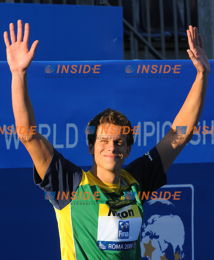 Roma 30th July 2009 - 13th Fina World Championships .From 17th to 2nd August 2009.Men's 100m Freestyle.Cesar CIELO FILHO (BRA) Gold Medal.photo: Roma2009.com/InsideFoto/SeaSee.com .Foto Andrea Staccioli Insidefoto
