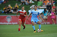 Boyds, MD -Saturday August 26, 2017: Meggie Dougherty Howard, Yuki Nagasato during a regular season National Women's Soccer League (NWSL) match between the Washington Spirit and the Chicago Red Stars at Maureen Hendricks Field, Maryland SoccerPlex.