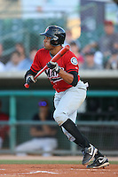April 19 2009: Tyson Gillies of the High Desert Mavericks bats against the Lancaster JetHawks at Clear Channel Stadium in Lancaster,CA.  Photo by Larry Goren/Four Seam Images