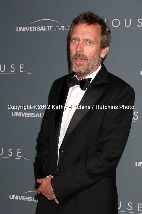 LOS ANGELES - APR 20:  Hugh Laurie arrives at the House Series Finale Wrap Party at Cicada on April 20, 2012 in Los Angeles, CA