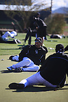 Mexican Coache Vinicio Castilla  of Colorado Rockies  during the Spring Trainig 2013 in Sports Complex Salt River Fields at Talking Stick in Arizona. February 24, 2013