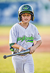 29 June 2014: Nico Newhan, son of Vermont Lake Monsters Manager and former MLB player David Newhan, helps out during a game against the Lowell Spinners at Centennial Field in Burlington, Vermont. The Spinners defeated the Lake Monsters 7-5 in NY Penn League action. Mandatory Credit: Ed Wolfstein Photo *** RAW Image File Available ****