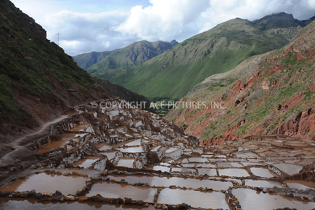 WWW.ACEPIXS.COM . . . . . .January 11, 2013...Peru....Close to Urubamba there is a place called Salinas. This is a place where people gather salt in the Sacred Valley on January 11, 2013 in Peru ....Please byline: KRISTIN CALLAHAN - ACEPIXS.COM.. . . . . . ..Ace Pictures, Inc: ..tel: (212) 243 8787 or 212 489 0521..e-mail: kristincallahan@aol.com...web: http://www.acepixs.com .
