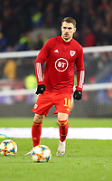 19th November 2019; Cardiff City Stadium, Cardiff, Glamorgan, Wales; European Championships 2020 Qualifiers, Wales versus Hungary; Aaron Ramsey of Wales during warm up  - Editorial Use