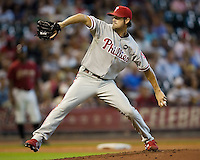 Hamels, Cole 5598.jpg Philadelphia Phillies at Houston Astros. Major League Baseball. September 6th, 2009 at Minute Maid Park in Houston, Texas. Photo by Andrew Woolley.