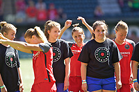 Portland, OR - Saturday September 02, 2017: Meghan Klingenberg before a regular season National Women's Soccer League (NWSL) match between the Portland Thorns FC and the Washington Spirit at Providence Park.