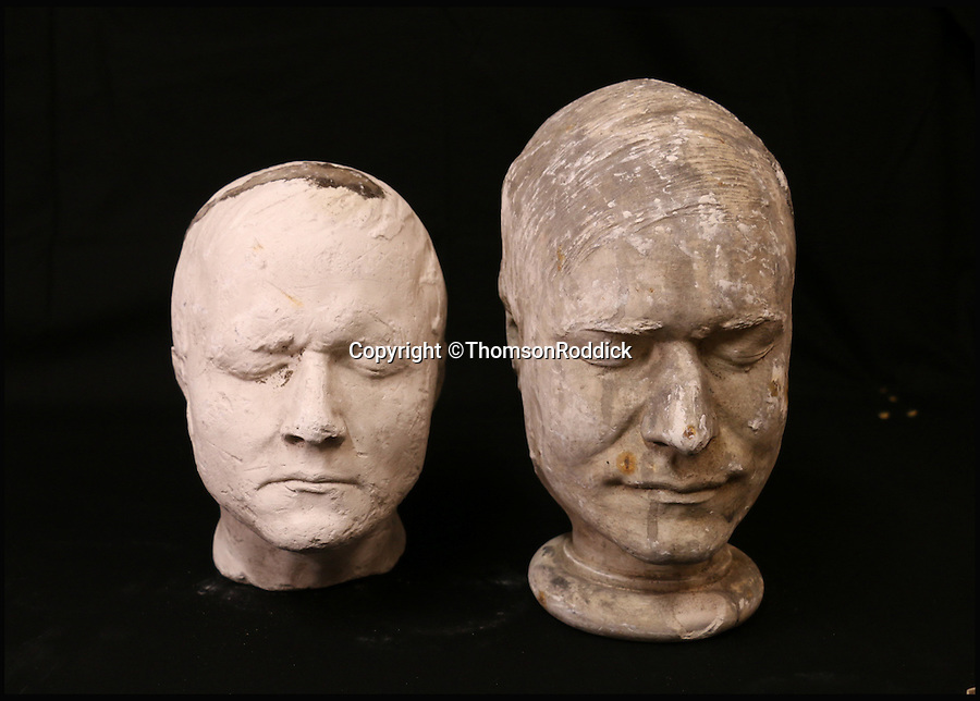 BNPS.co.uk (01202 558833)<br /> Pic: ThomsonRoddick/BNPS<br /> <br /> 19th century plaster death mask head of a man, by J. DeVille sold for £1,350.<br /> <br /> These disturbing Victorian plaster cast heads of notorious criminals are a far cry from today's bland mugshots of lowlifes.<br /> <br /> Two of the heads have been identified as Benjamin Courvoisier, a serial killer in the mould of Jack the Ripper, and coachman Daniel Good who mutilated his pregnant mistress. <br /> <br /> In total, nine heads were discovered at an outbuilding at a rural home just outside Penrith, Cumbria, which have now fetched almost £40,000 at auction. <br /> <br /> Experts predicted the collection of heads would sell for £2,000  but Courvoisier's head alone went for £20,000.<br /> <br /> Two of the heads were made by the famous British exponent of phrenology, James De Ville, who built a private museum of more than 5,000 specimens.