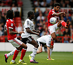 Clayton Donaldson of Sheffield Utd looks on as \nf clears during the Championship match at the City Ground Stadium, Nottingham. Picture date 30th September 2017. Picture credit should read: Simon Bellis/Sportimage