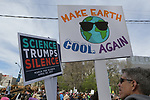 March for Science Chicago draws 40,000 people to defend the basic facts of science, along Columbus Drive to the Campus of the Field Museum in Chicago, on April 22, 2017. Speakers are Freddie, Lee Bitsoi, Garry Cooper, Karen Weight and Emily Gralsie .(photo by Jean-Marc Giboux )