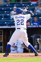 Tim Beckham #22 of the Durham Bulls at bat against the Charlotte Knights at Durham Bulls Athletic Park on August 28, 2011 in Durham, North Carolina.   (Brian Westerholt / Four Seam Images)