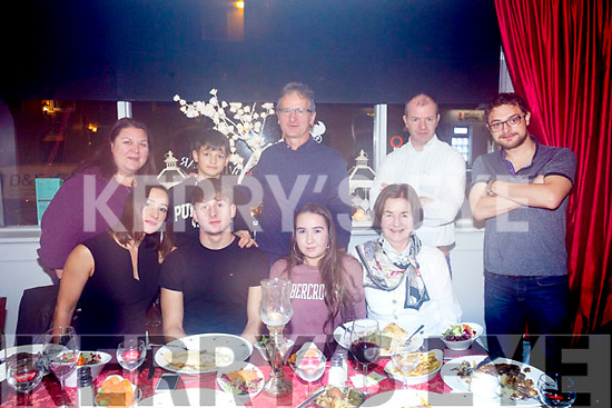 Conor Murphy, Tralee celebrating his 18th birthday with family ant Denny Lane on Friday