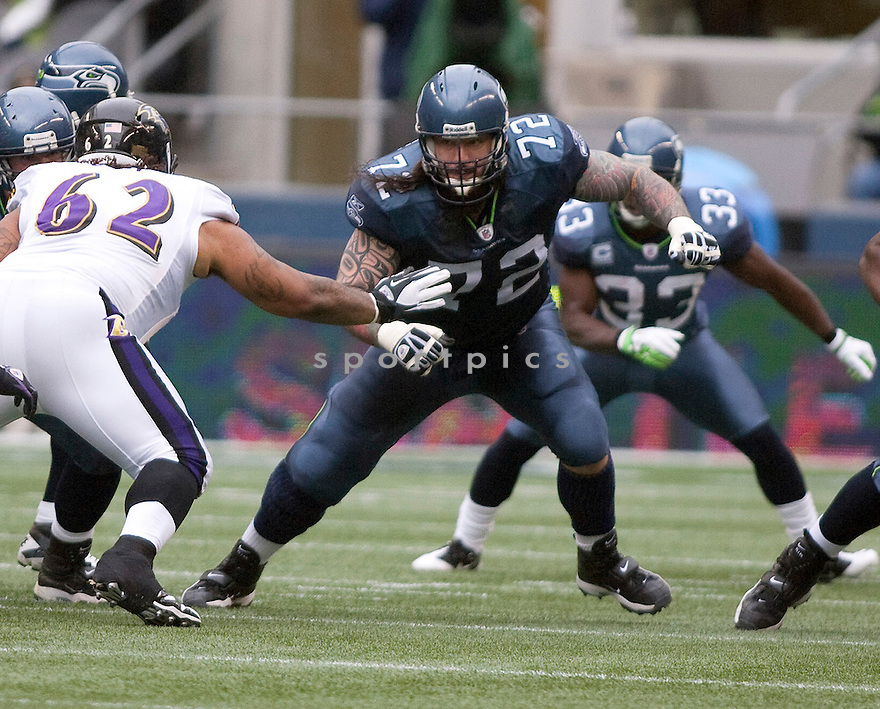 ROBERT GALLERY, of the Seattle Seahawks, in action during the Seahawks game against the Baltimore Ravens on November 13, 2011 at CenturyLink Field in Seattle, WA. Seattle beat Baltimore 22-17.