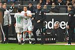 06.10.2019, Commerzbankarena, Frankfurt, GER, 1. FBL, Eintracht Frankfurt vs. SV Werder Bremen, <br /> <br /> DFL REGULATIONS PROHIBIT ANY USE OF PHOTOGRAPHS AS IMAGE SEQUENCES AND/OR QUASI-VIDEO.<br /> <br /> im Bild: Auswechslung Leonardo Bittencourt (SV Werder Bremen #10) fuer Philipp Bargfrede (#44, SV Werder Bremen)<br /> <br /> Foto © nordphoto / Fabisch