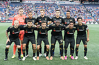 FOXBOROUGH, MA - AUGUST 3: Los Angeles FC starting eleven during a game between Los Angeles FC and New England Revolution at Gillette Stadium on August 3, 2019 in Foxborough, Massachusetts.
