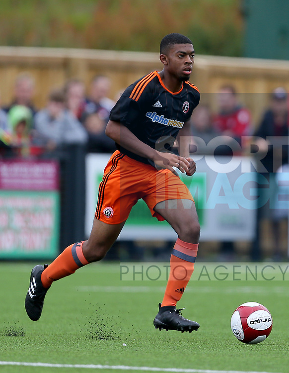 Keenan Ferguson of Sheffield Utd during the pre season match at the Flamingo Land Stadium, Scarborough. Picture date 15th July 2017. Picture credit should read: Richard Sellers/Sportimage