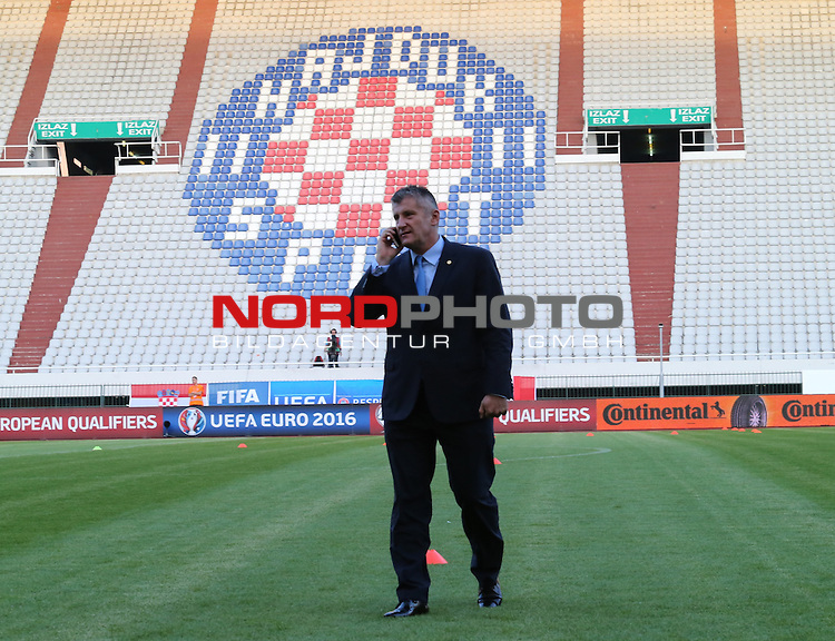 12.06.2015., Croatia, stadium Poljud, Split - Qualifying match for the European Championship to be held in 2016 in France, Group H, Round 6, Croatia - Italy. Davor Suker. <br /> Foto &copy;  nph / PIXSELL / Ivo Cagalj